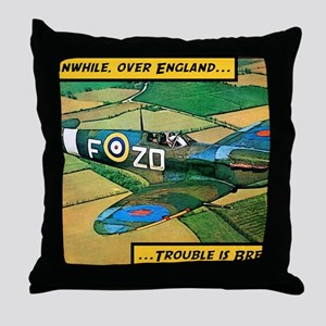 Spitfire - Trouble Brewing! Throw Pillow