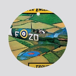 Spitfire - Trouble Brewing! Round Ornament