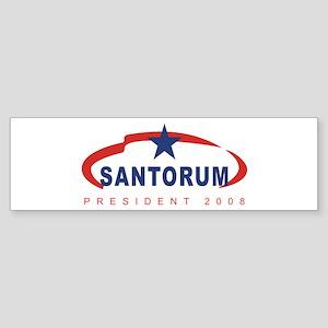 2008 Rick Santorum (star) Bumper Sticker