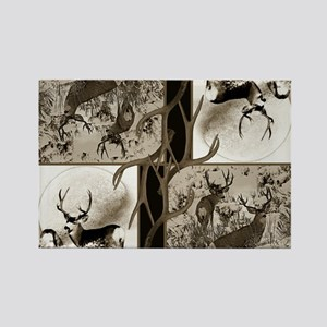 Rustic Mule deer Rectangle Magnet