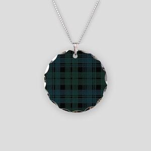 Campbell Scottish Tartan Pla Necklace Circle Charm