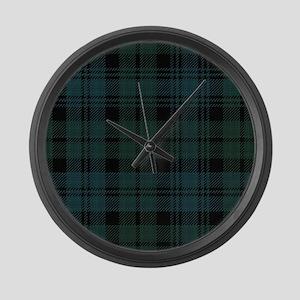Campbell Scottish Tartan Plaid Large Wall Clock
