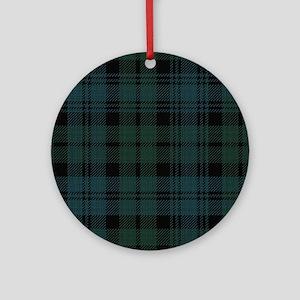 Campbell Scottish Tartan Plaid Round Ornament