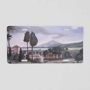 antique scene Reggio Aluminum License Plate