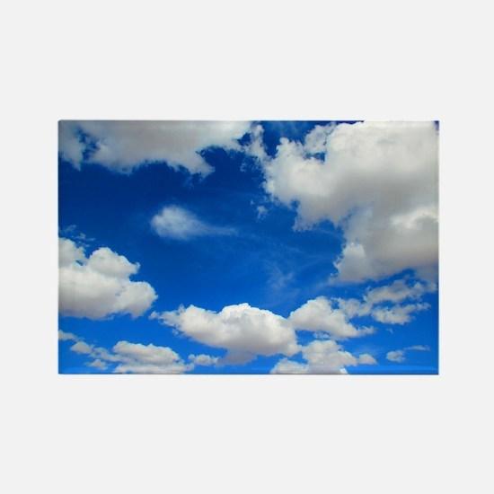 Cloudy Sky Rectangle Magnet