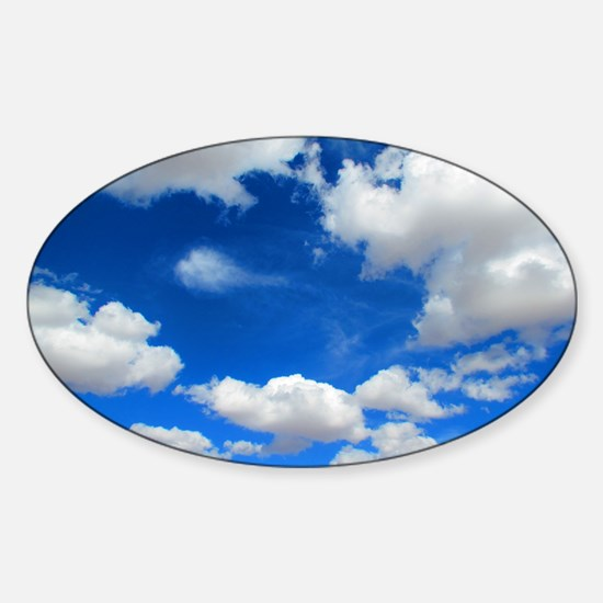 Cloudy Sky Sticker (Oval)