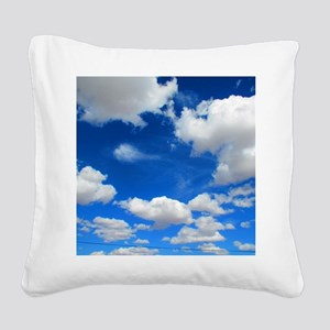 Cloudy Sky Square Canvas Pillow