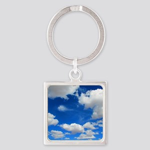 Cloudy Sky Square Keychain
