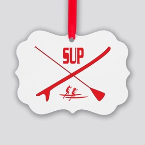 SUP Red Picture Ornament