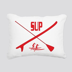 SUP Red Rectangular Canvas Pillow
