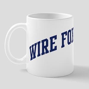 Wire Fox Terrier (blue) Mug