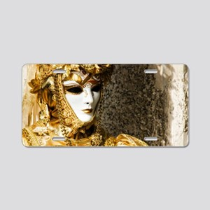 Venetian Carnevale Aluminum License Plate