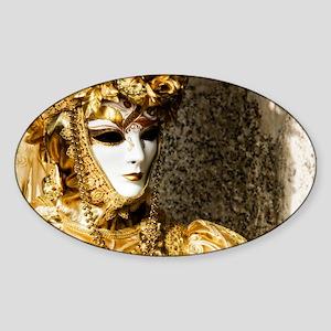 Venetian Carnevale Sticker (Oval)