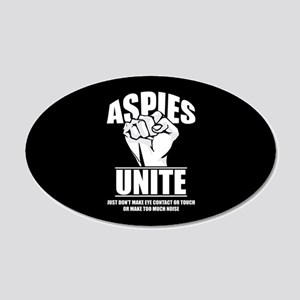 Aspies Unite 20x12 Oval Wall Decal