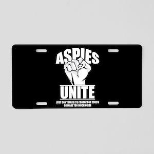 Aspies Unite Aluminum License Plate