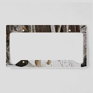 Winter Wolf License Plate Holder