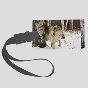 Winter Wolf Large Luggage Tag
