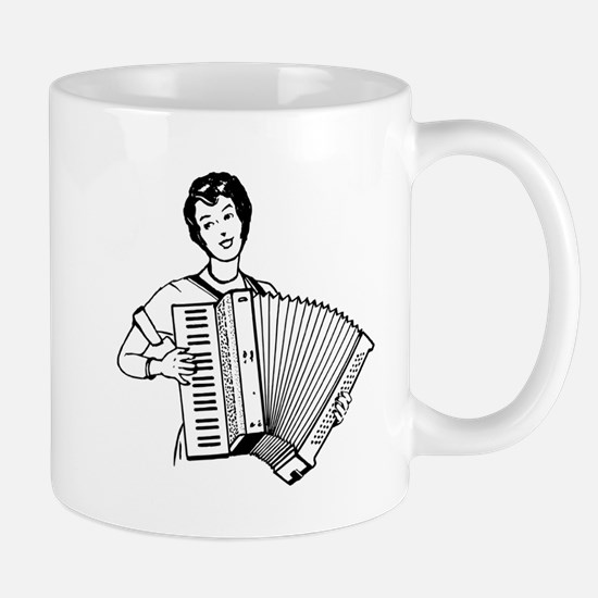 Woman Playing Accordion Mugs