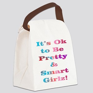Pretty  Smart Girlz Canvas Lunch Bag