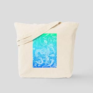 Underwater Light on Aqua Tote Bag