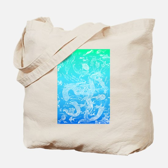 Underwater Light on Aqua Tote Bag