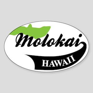Molokai Hawaii Sticker (Oval)