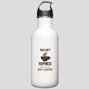 Happiness - Buy Coffee Stainless Water Bottle 1.0L