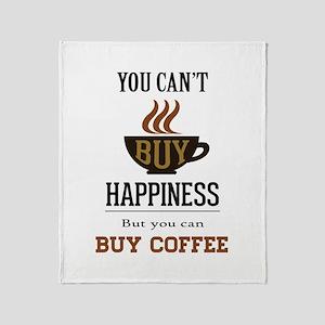 Happiness - Buy Coffee Throw Blanket