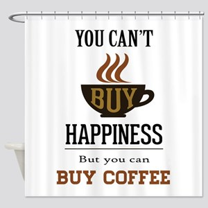 Happiness - Buy Coffee Shower Curtain