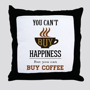 Happiness - Buy Coffee Throw Pillow