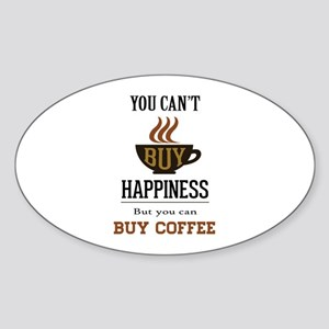 Happiness - Buy Coffee Sticker (Oval)
