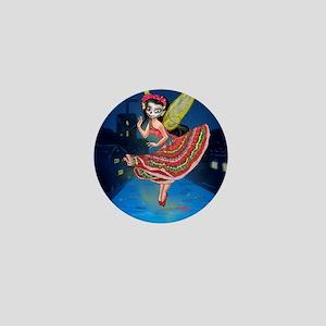 Mariachi Fairy with Dia de los Muertos Mini Button