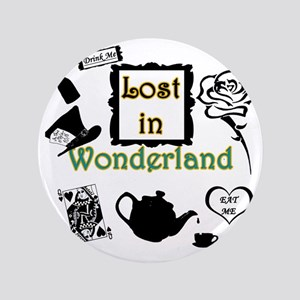 """Lost in Wonderland 3.5"""" Button"""