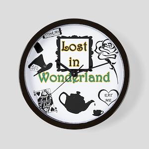 Lost in Wonderland Wall Clock
