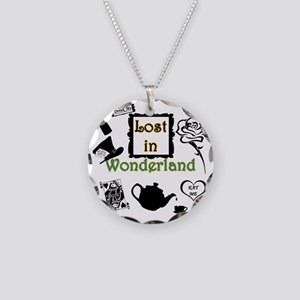 Lost in Wonderland Necklace Circle Charm
