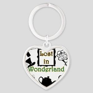 Lost in Wonderland Heart Keychain