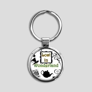 Lost in Wonderland Round Keychain
