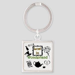 Lost in Wonderland Square Keychain
