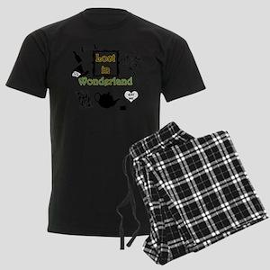 Lost in Wonderland Men's Dark Pajamas