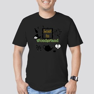 Lost in Wonderland Men's Fitted T-Shirt (dark)