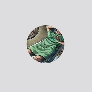 Vasectomy fear, conceptual artwork Mini Button