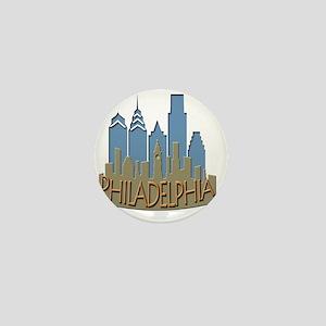Philly Skyline Newwave Beachy Mini Button