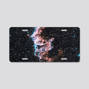 Veil nebula supernova remna Aluminum License Plate