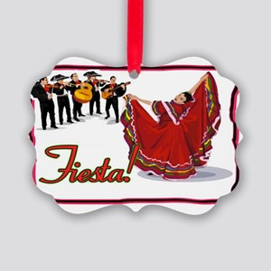 Mariachis and Mexican Dancer FIES Picture Ornament