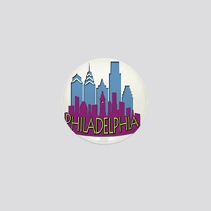 Philly Skyline Newwave Cool Mini Button