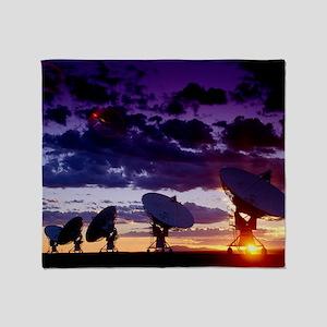 Very Large Array (VLA) radio antenna Throw Blanket