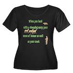 Carry Your Crook Women's Plus Size Scoop Neck Dark