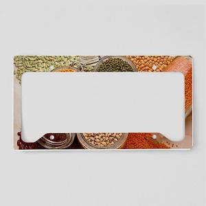 View of an assortment of bean License Plate Holder