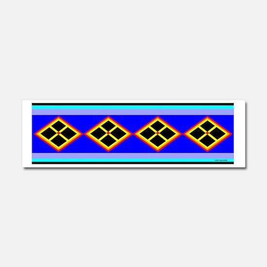 SEMINOLE INDIAN PATCHWORK Car Magnet 10 x 3