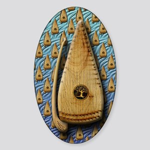 Bowed Psaltery Journal Sticker (Oval)